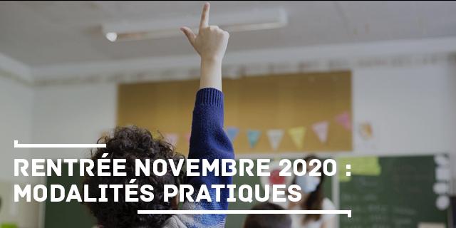 Rentrée 2020 - modalités
