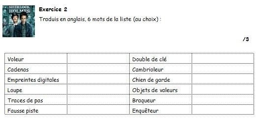 evaluation anglais 5eme