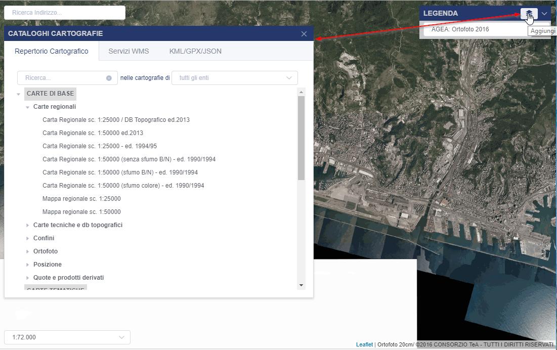 capture d'écran du géoportail ligure