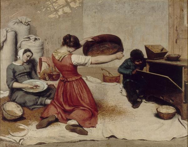Gustave Courbet, Les Cribleuses de blé, 1854