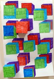 Espace Pedagogique Arts Plastiques Insitu Cubes Et Couleurs