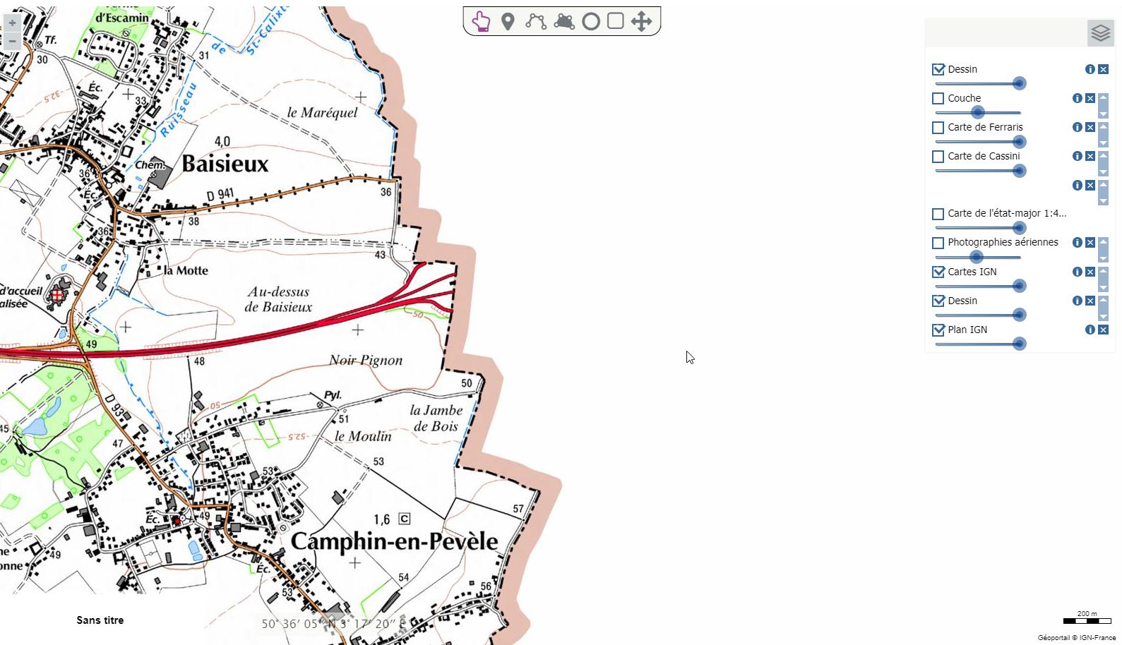 Cartographie de la frontière belge