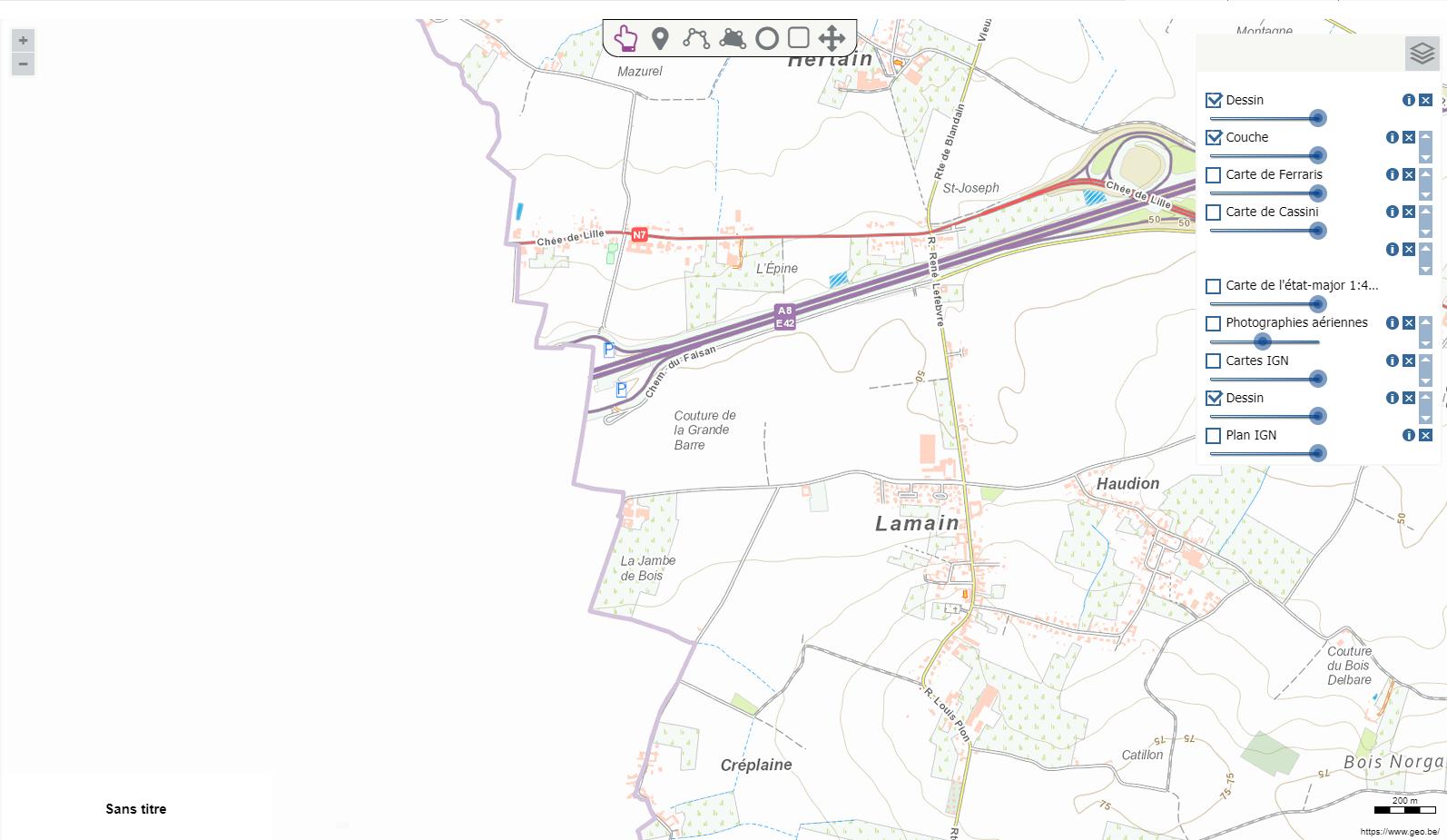 Carte topographique belge