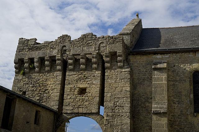 La porte du château d'Aubigné en Maine-et-Loire