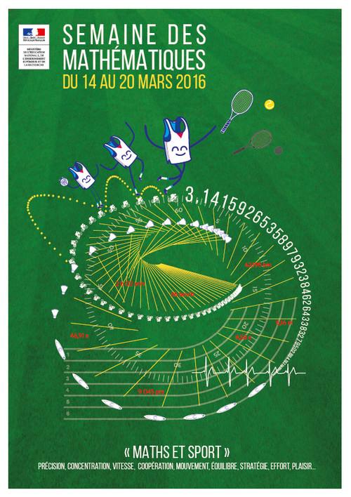 affiche semaine des mathématiques 2016