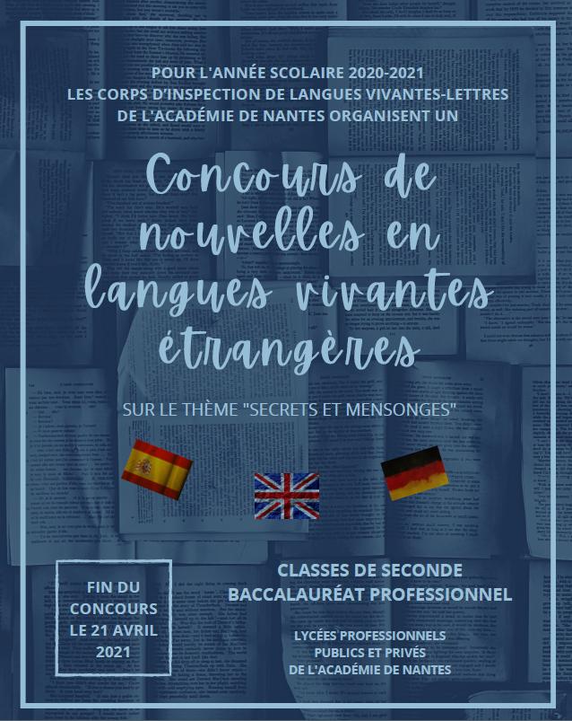 concours de nouvelles en langues vivantes étrangères