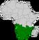Vignette carte Afrique du sud / Afrique australe