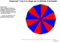 aire disque (Archimède)