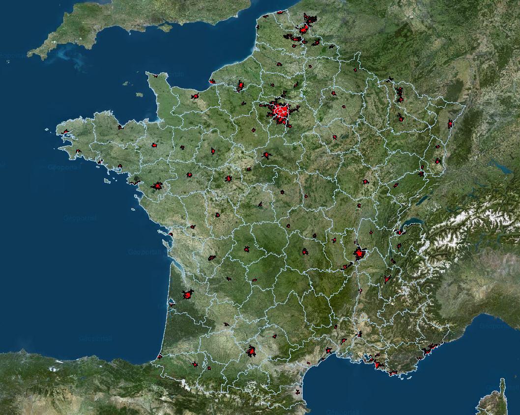 carte villes france
