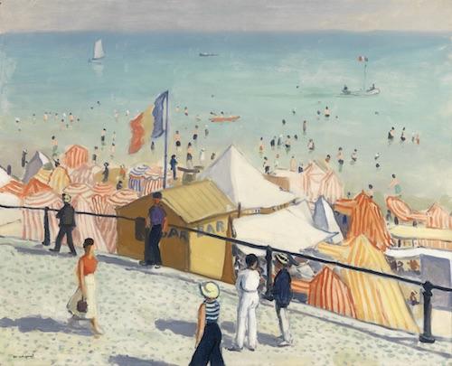 Albert Marquet, L'été la plage des Sables d'Olonnes,1933