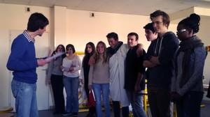 Répétition avec Ronan du théâtre Amok