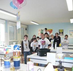 groupe d'élève de l'AST du lycée Monge