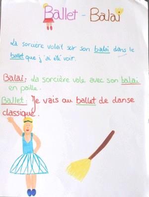 homophones balai, ballet