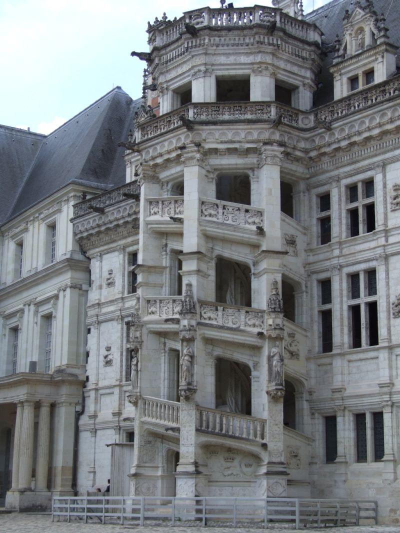 l'escalier du château de Blois