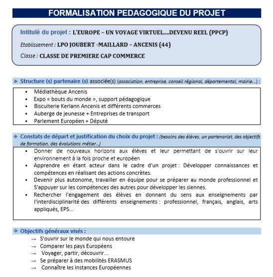Descriptif projet Bruxelles