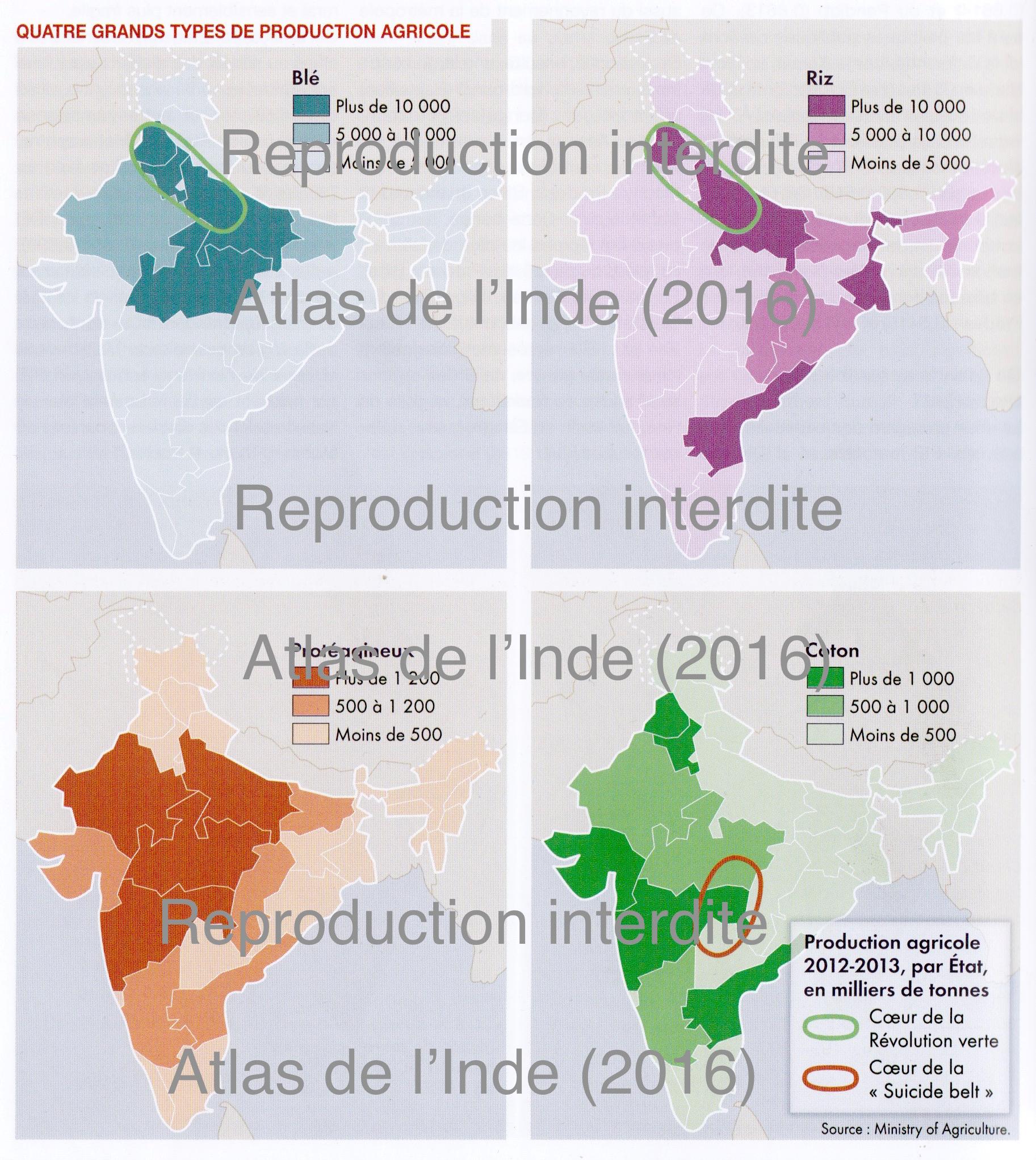 Carte Inde Nourrir Les Hommes.Espace Pedagogique Histoire Geographie Citoyennete
