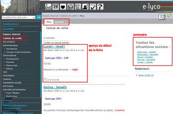 page e-lyco cellule de veille
