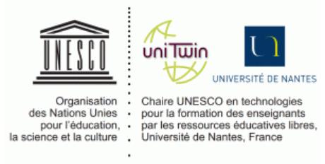 logo chaire Unesco, ressources éducatives libres