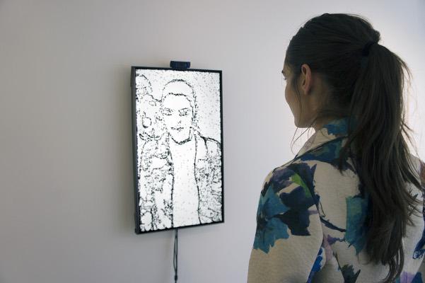 Christa SOMMERER et Laurent MIGNONNEAU, Portrait on the fly, 2015