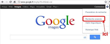 Recherche avancée dans Google images