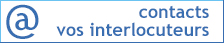 contacts, interlocuteurs