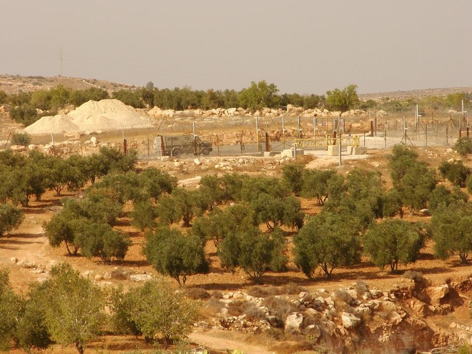 barrière à l'ouest de Hébron