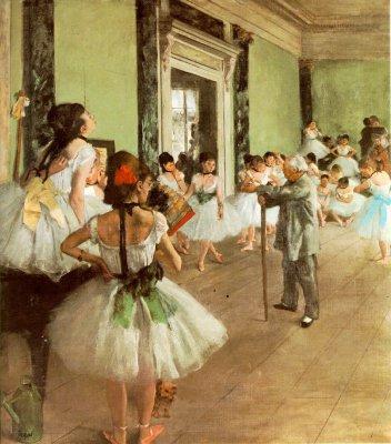 Degas dans avec le maître de danse