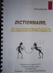 dictionnaire d'homophones