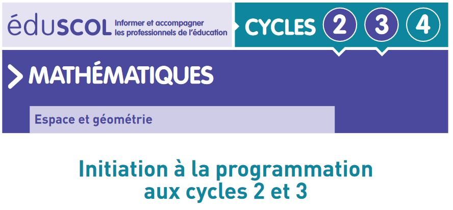 Document d'accompagnement Eduscol - Initiation programmation
