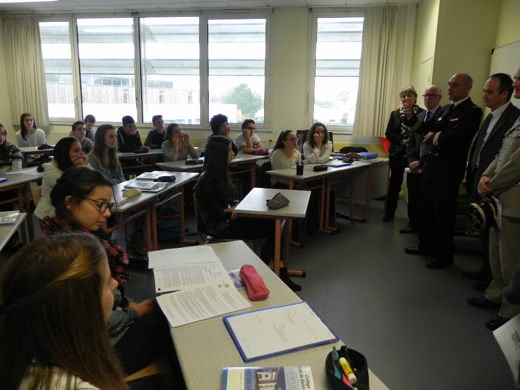 classe du Collège Saint-Exupéry de Belleville-sur-Vie