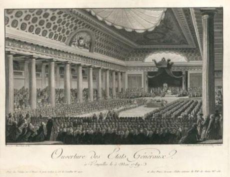 gravure : l'ouverture des États généraux à Versailles