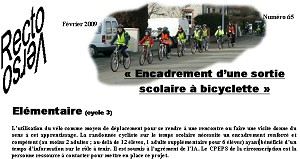 recto-verso n°65 : encadrement sortie scolaire à bicyclette