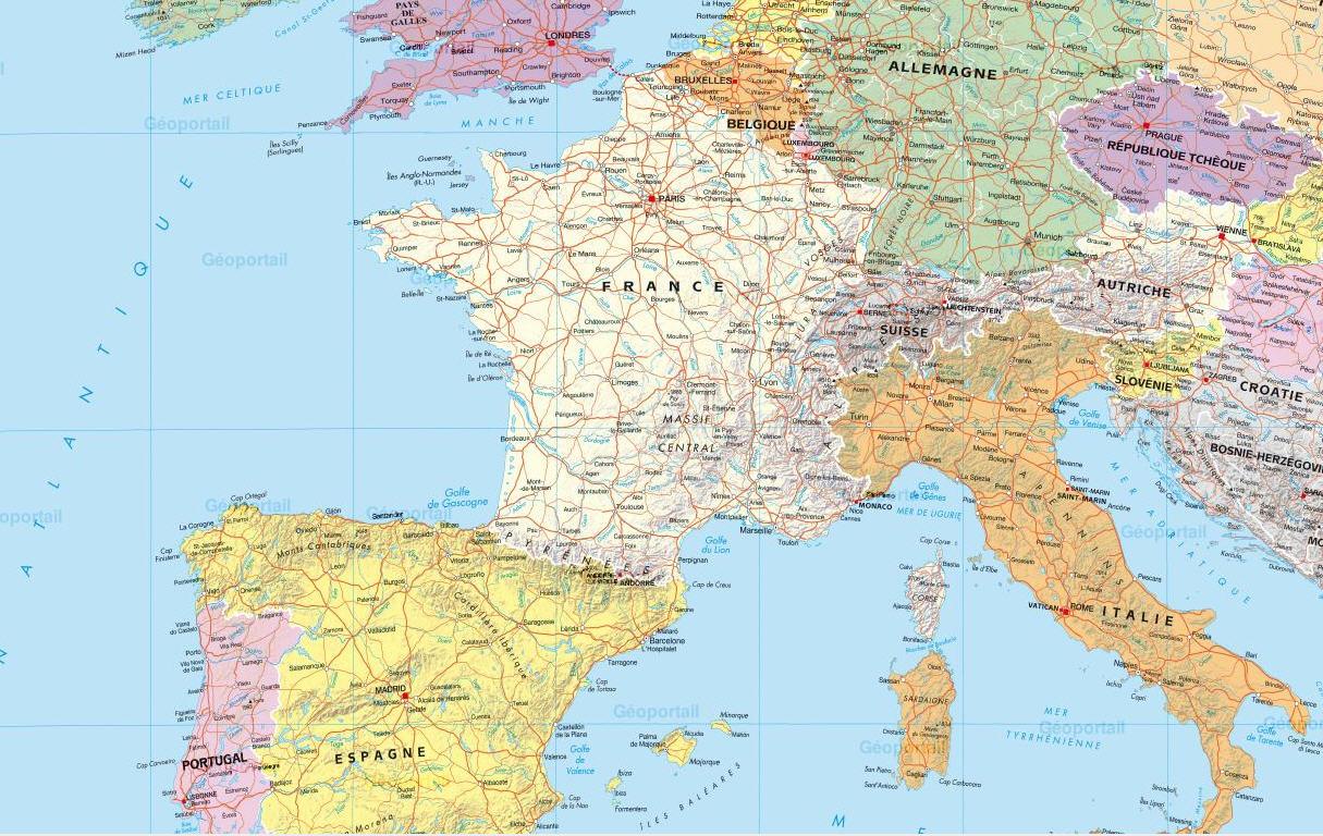 Carte Deurope Avec Zoom.Espace Pedagogique Histoire Geographie Citoyennete