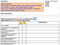 image grille évaluation compte-rendu