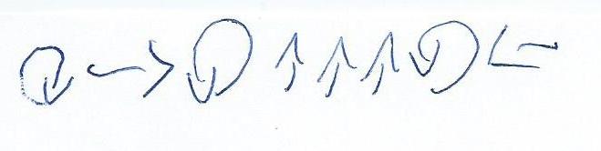 Exemple d'un programme proposé, avec des flèches