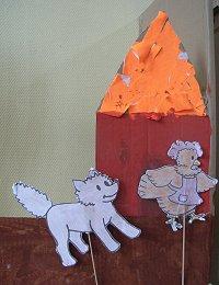 illustrations : mise en voix et images de la Petite Poule Rousse