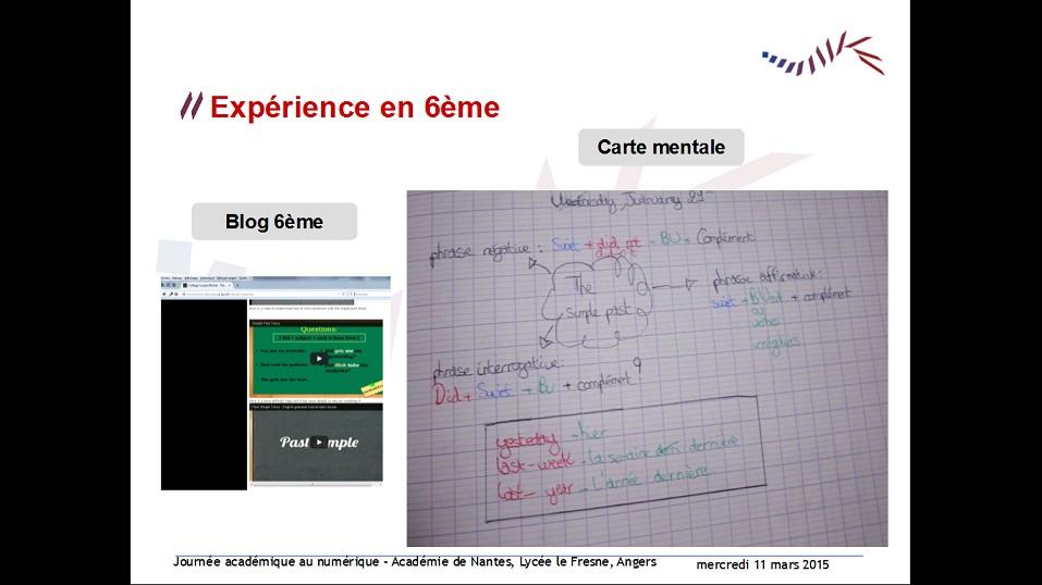 capture écran expérience 6