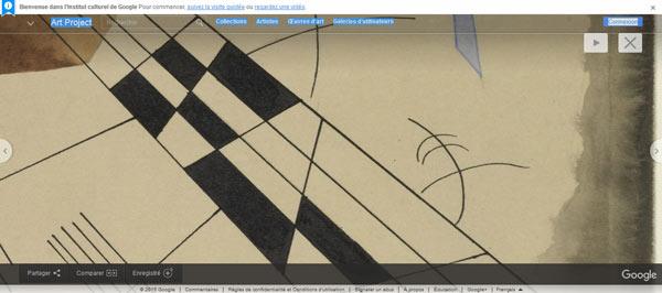 Détail de l'oeuvre de Kandinsky