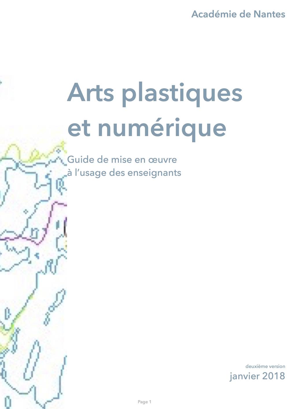 guide arts plastiques et numérique - janvier 2018