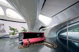 Zaha hadid, le shox room de Chanel, vue interieure.
