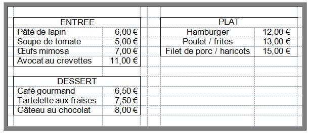 exemple d u0026 39 une facture de restaurant