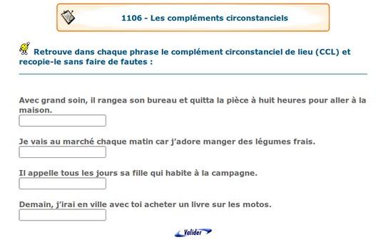 Portail Pedagogique Francais Complements Circonstanciels Complements Essentiels