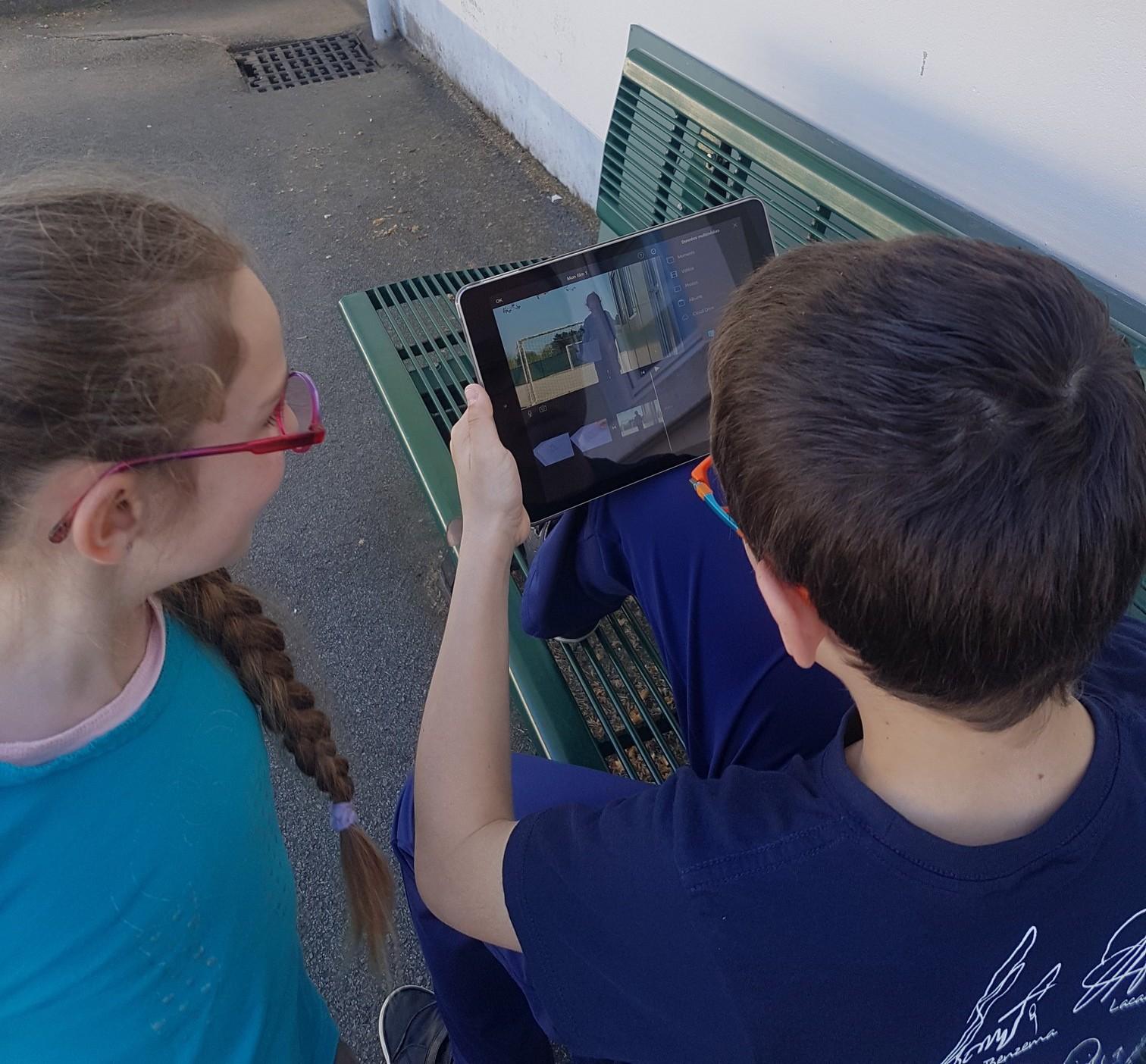 Utilisation de la tablette par les élèves