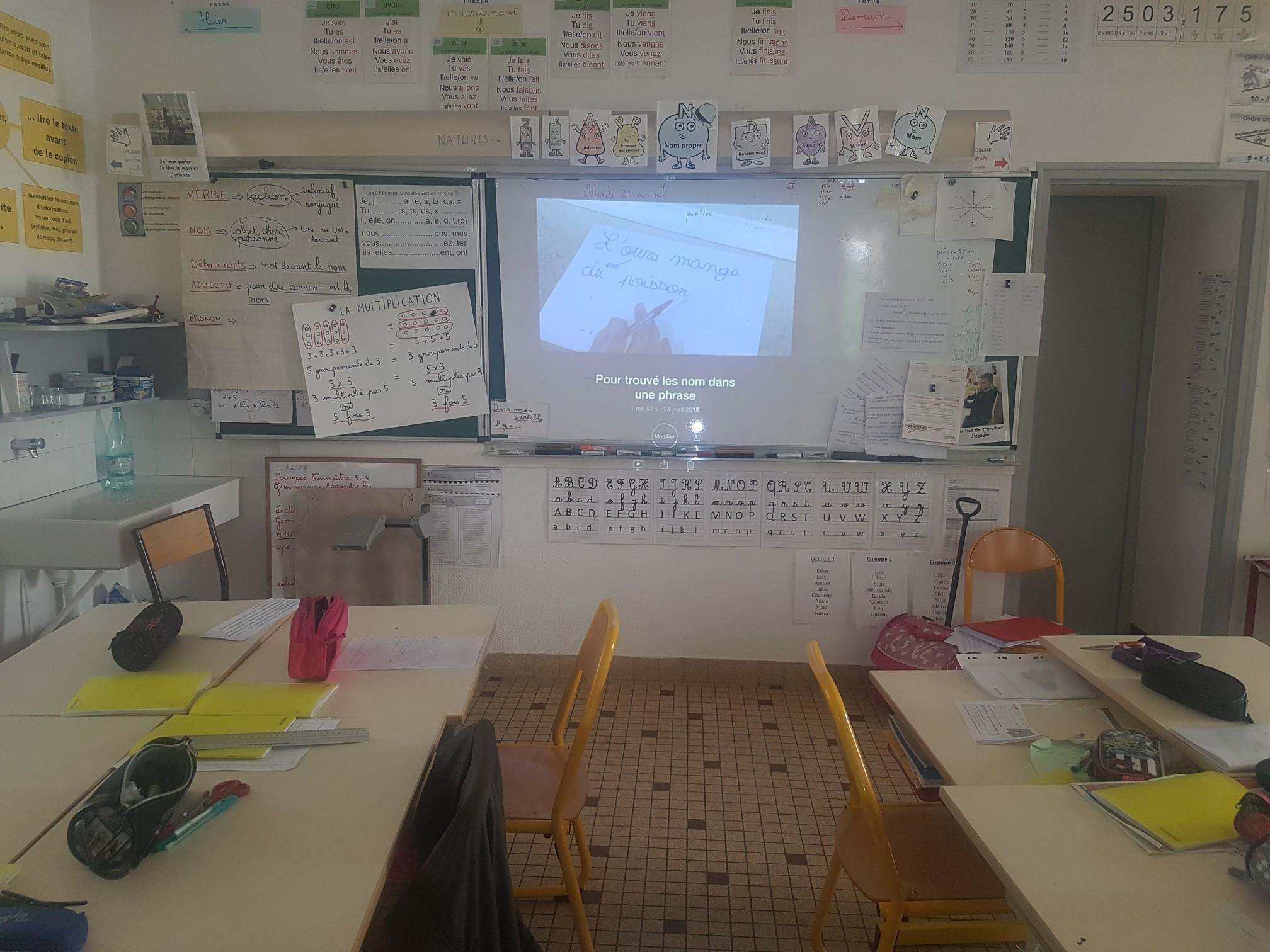 Visionnage des vidéos créées par les élèves