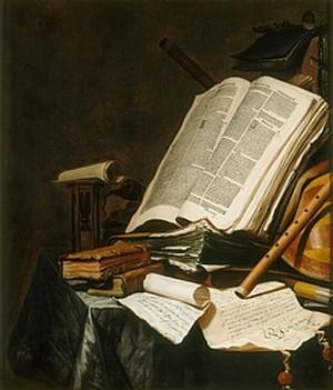 Jan VERMEULEN, Livres et instruments de musique