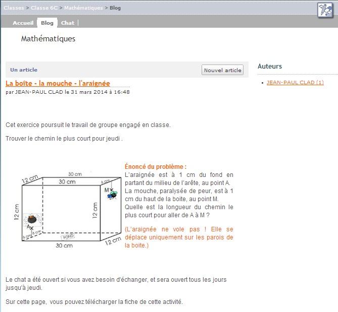 blog mathématiques
