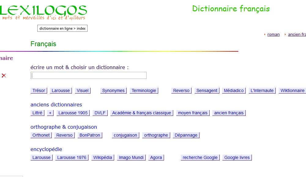 Lexilogos Dictionnaire Francais Unlimited Clipart Design