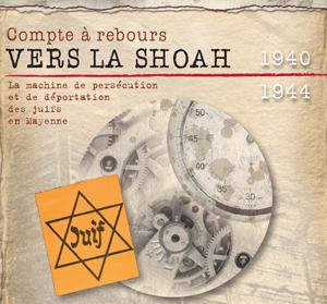 logotype exposition Compte à rebours vers la Shoah