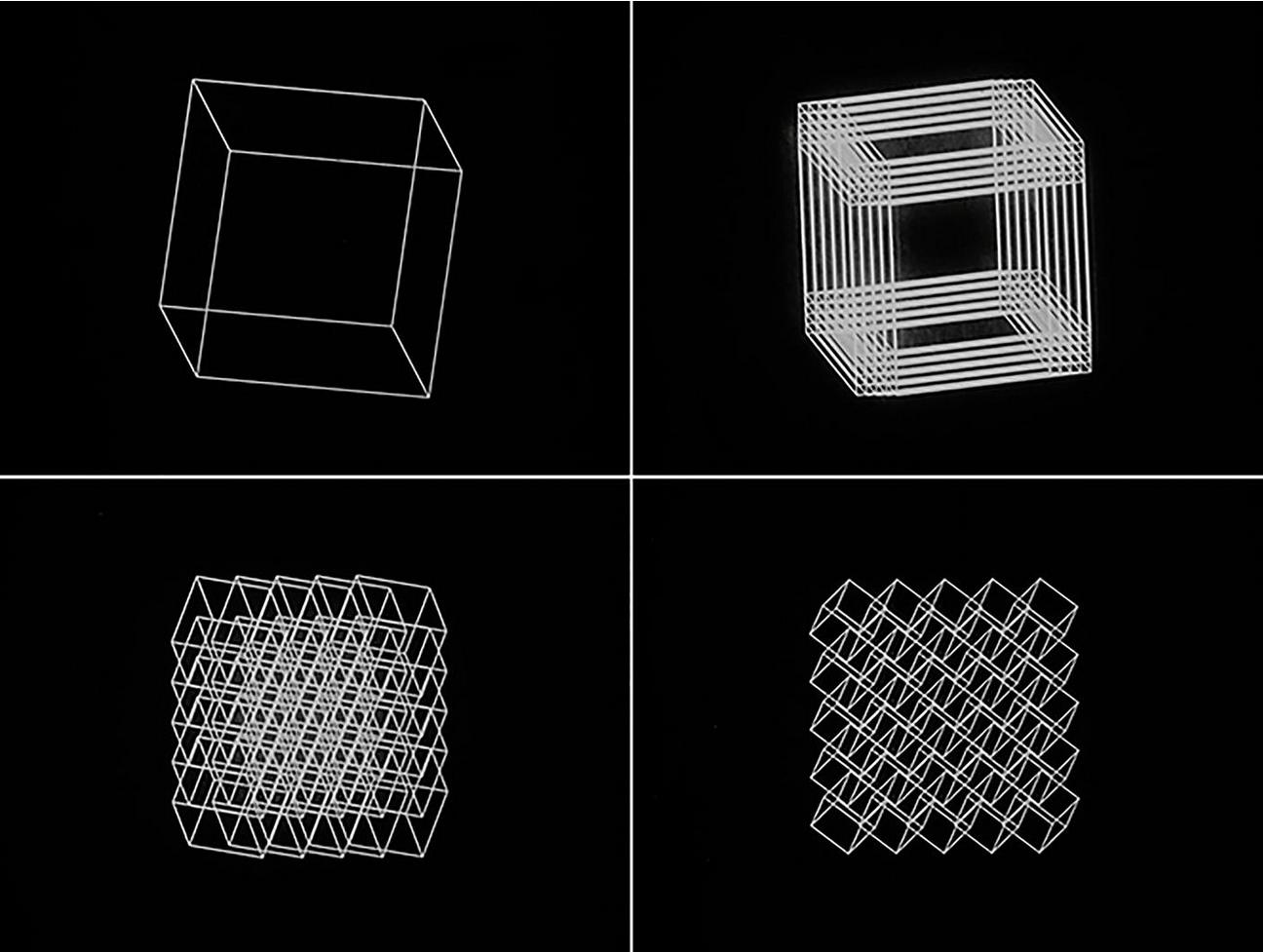 Manfred MOHR, Cubic Limit, 1973-1974