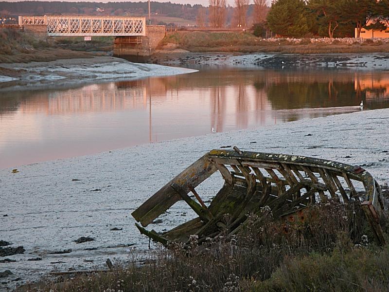 Le marais à proximité de la Baule